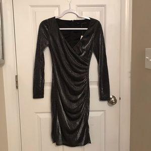 White House Black Market Ruched Holiday Dress
